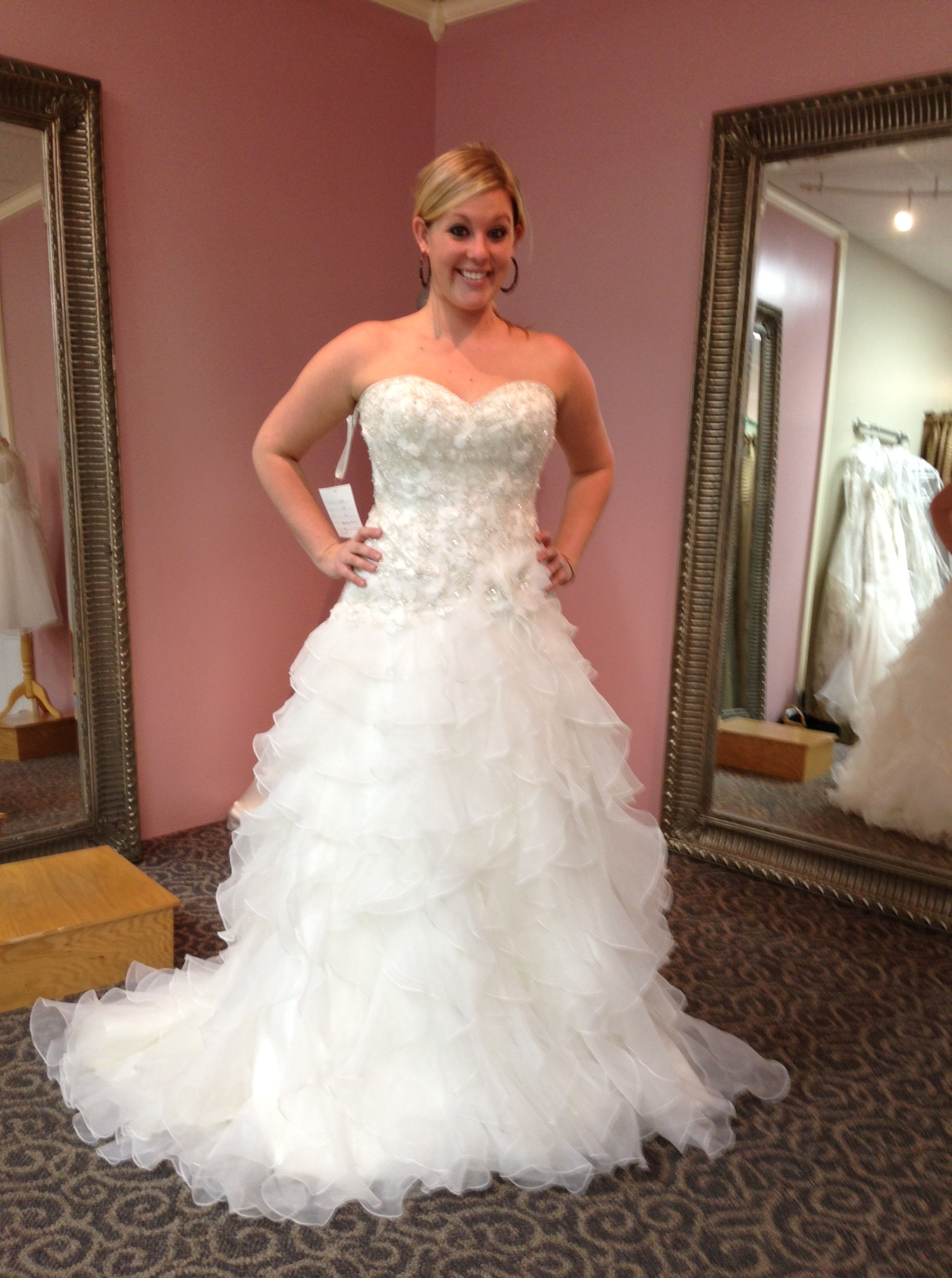January 2014 my walk down the aisle for Wedding dress with ruffles on bottom